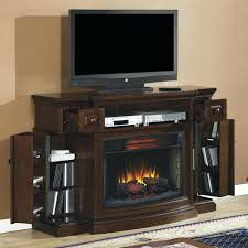 flat electric fireplace insert wall mounted heater log pebble set