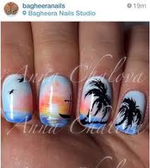 palm tree nail art opi products in my back pocket sally hansen