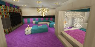 Minecraft House Design Ideas Xbox Minecraft Bedroom Pink Purple Wallpaper Wall Design Canopy