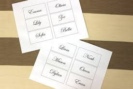wedding place cards template easy and diy flower place cards for your wedding petal talk