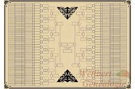 printable family tree template 9 generations bow tie empty to