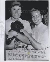 1957 press photo marlene bauer hagge in zaharias open golf tourny