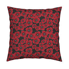 lest we forget poppies fabric lucybaribeau spoonflower