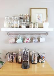 under cabinet coffee mug rack under cabinet mug rack mug rack kitchen coffee station the inspired