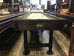 imperial bedford 12 shuffleboard table 12ft industrial steel shuffleboard different stain options