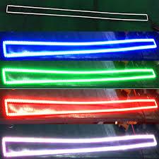 dc12v car rgb led bar light halo with bluetooth remotes buy rgb