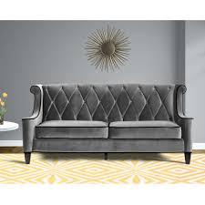 furniture light grey tufted sofa amazon com sofas grey velvet