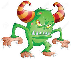 Scary Halloween Animals by A Vector Illustration Of Cute Scary Green Monster For Halloween