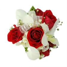 White Wrist Corsage Red And White Corsage White And Red Corsage