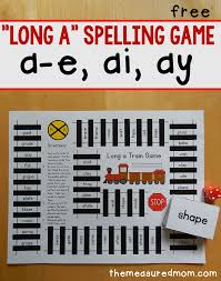 long a spelling patterns free printable game the measured mom