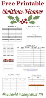 organized home printable menu planner free printable christmas planner 9 forms included