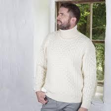 mens turtleneck sweater aran turtleneck sweater 100 merino wool