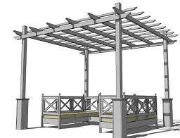 Build A Pergola On A Deck by Ana White Weatherly Pergola Diy Projects
