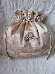 bridesmaids bags gold satin drawstring pouch made bag bridal bag