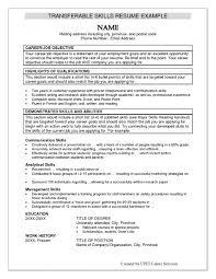 Free Sample Resumes Skill Resume Examples It Resume Skills Livmoore Tk Free Sample