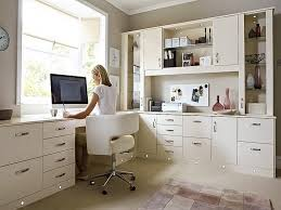 Beautiful White Home Office Furniture Gallery Home Decorating - Home office furniture ideas
