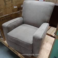 Dawson Swivel Glider Recliner Bedroom Black Letherette Modern Swivel Glider Recliner Chair With