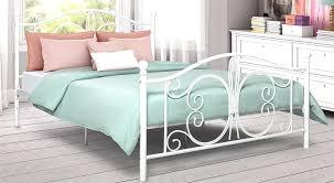 leirvik bed frame queen ikea endear white iron birdcages
