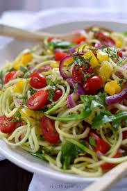 noodle salad recipes zucchini noodle salad with arugula and apple cider vinegar dressing