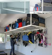 how to organize small garage using 4x8 overhead ceiling garage