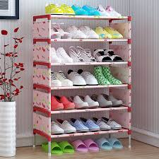 Shoe Home Decor 7 Tiers Shoe Racks With Thick Non Woven Fabric Shoe Storage