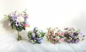 meadow flower wedding package bride bridesmaids bouquets
