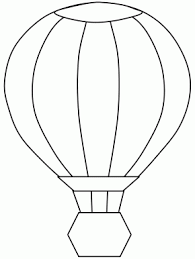 transportation color train coloring page air balloon