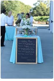 Blue Table Menu Chalkboard Signs Wedding Trends Wedding Style Ideas Encore