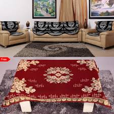 Coffee Table Cover by 6 Pc Sofa Cover Set With Table Cover Free By House Attire Sofa
