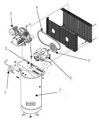 air compressor anantomy breakdown diagram exploded view drawing