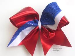 custom hair bows sparkle tic toc sequin cheerleading custom hair bow