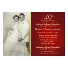 40th anniversary invitations 40th wedding anniversary invitations wedding ideas