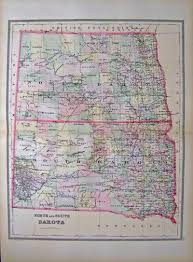 Map North Dakota Prints Old U0026 Rare North Dakota Page