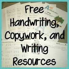 Resources Free Printable Worksheets Free Handwriting Copywork And Writing Resources Handwriting
