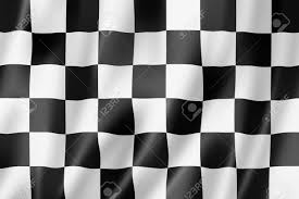 Checkered Racing Flags Auto Racing Finish Checkered Flag Three Dimensional Render