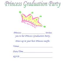 graduation announcements sles princess kindergarten graduation invitations