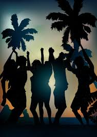 party silhouette free beach party stock vectors stockunlimited