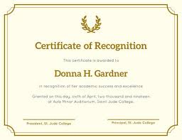 recognition certificate templates canva