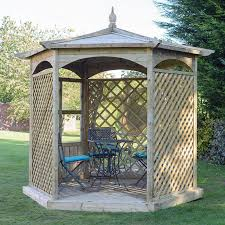 grange budleigh gazebo hexagonal paving superstore