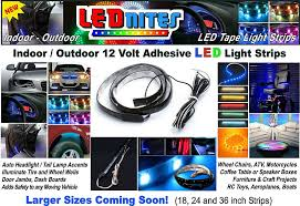 Auto Led Light Strips Led Adhesive Light Strips Chrome Auto Emblems