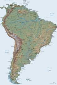 Maps America by Large Detailed Relief Map Of South America South America Large