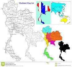 World Map Thailand by Thai Map Set Stock Illustration Image 41750331