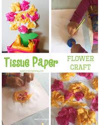 bright tissue paper flower craft teach me mommy