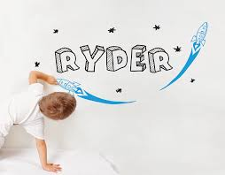 kids rocket wall decal with name your decal shop nz designer kids rocket wall decal with name