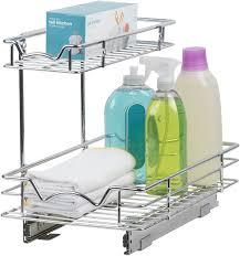 sink kitchen cabinet organizer sink organizer for cabinet pull out drawer organizer for kitchen vanity sink storage two tier slide out cabinet organizer