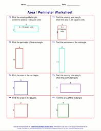 area of rectangles and squares worksheet worksheets
