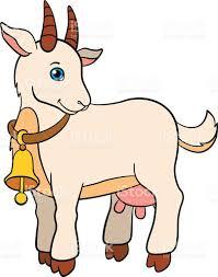 cartoon farm animals for kids cute goat smiles stock vector art