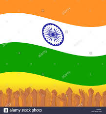 Green Day Flag India Independence Day Background With Indian National Flag Deep