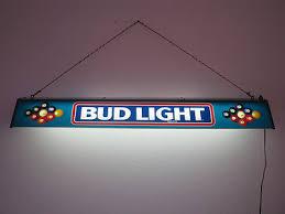 bud light pool table light vintage bud light pool table l large beer sign electric budweiser