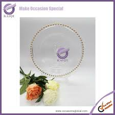 cheap plates for wedding 18264 wedding hot sale cheap silver gold glass charger plates